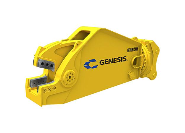 GRB (Genesis Rail Breaker) attachment facing left.