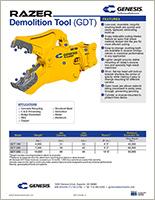 Spec sheet for GDT (Genesis Razer Demolition Tool).